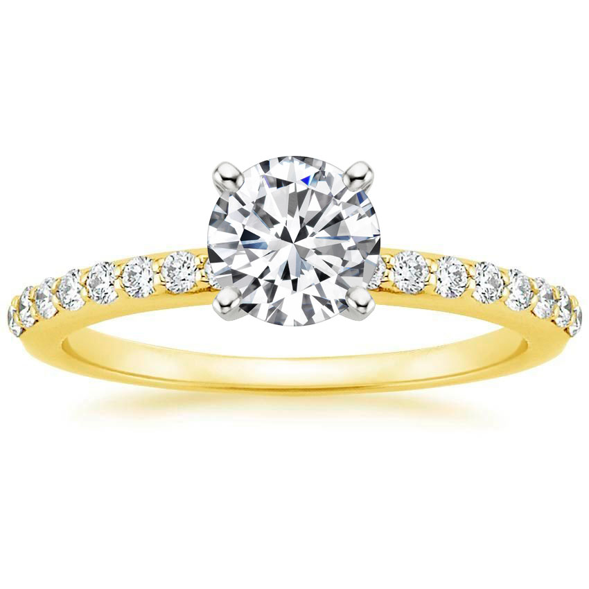 PETITE SHARED PRONG DIAMOND RING (1/4 CT. TW.)