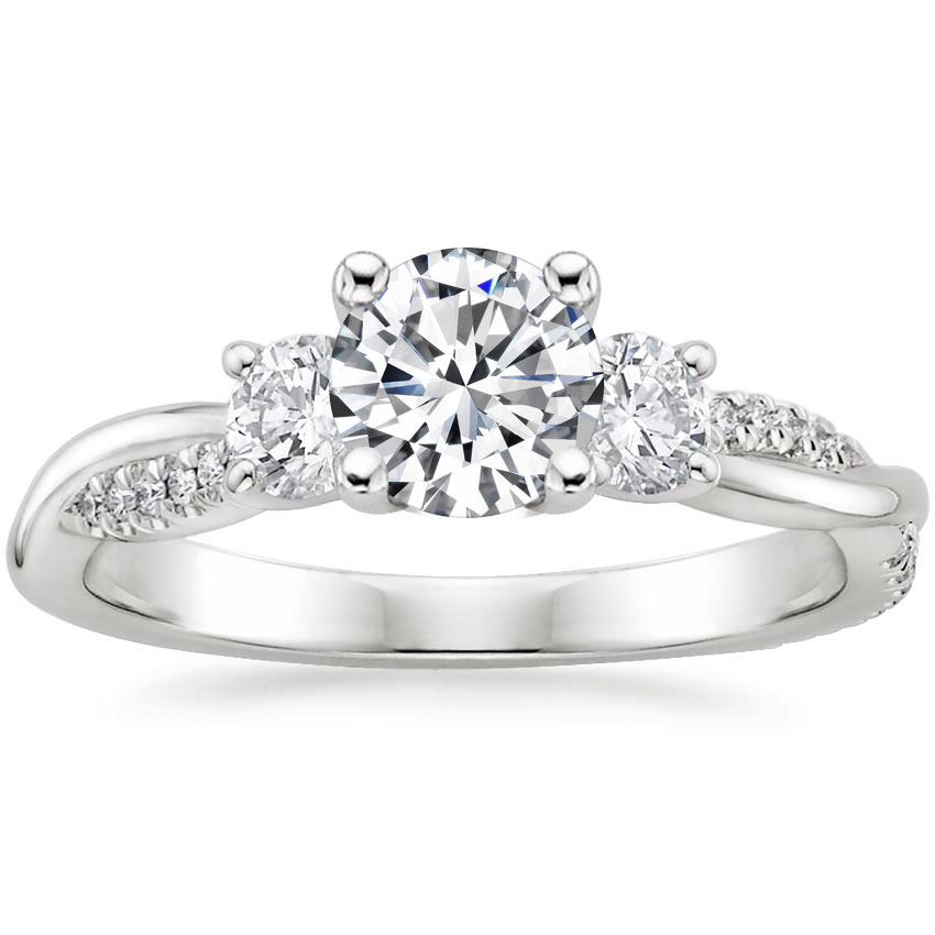 THREE STONE PETITE TWISTED VINE DIAMOND RING (2/5 CT. TW.)