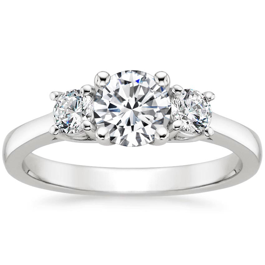 PETITE THREE STONE TRELLIS RING (1/3 CT. TW.)